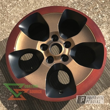 Two Toned Highland Bronze And Transparent Copper Wheels