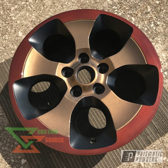 Powder Coating: Wheels,Automotive,Clear Vision PPS-2974,Transparent Copper PPS-5162,Custom Wheels,Custom Powder Coated Wheels,Two Tone,Highland Bronze PMB-5860