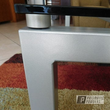 Furniture Refinished In A Satin Titanium Powder Coat