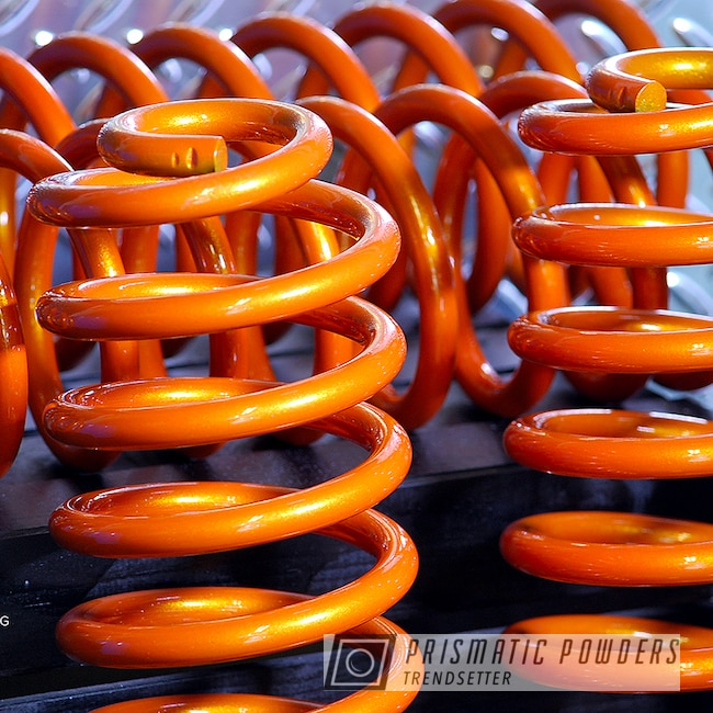 Powder Coating: Auto Parts,Automotive,Clear Vision PPS-2974,Jeep Parts,GLOSS BLACK USS-2603,Springs,Jeep,Custom Powder Coated Parts,Illusion Orange PMS-4620