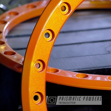 Powder Coated Jeep Parts In Illusion Orange And Gloss Black