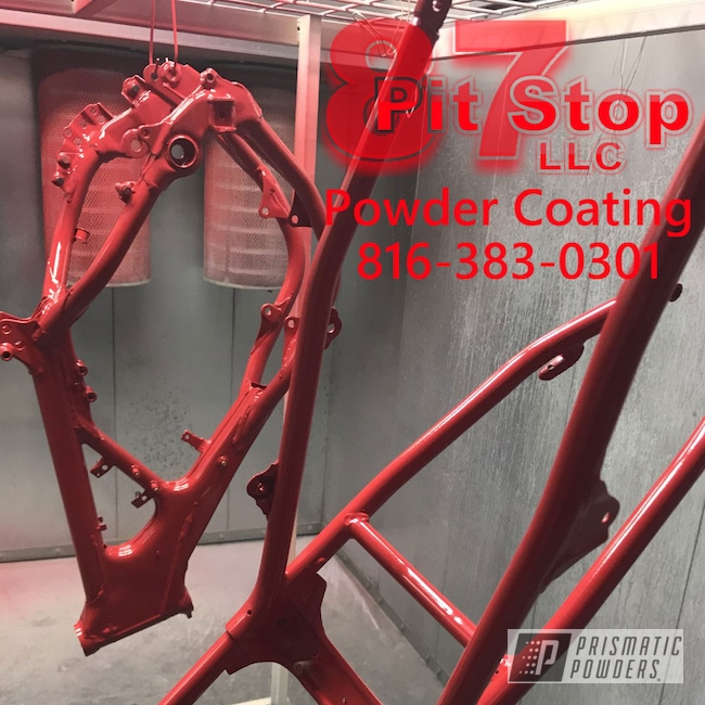 Powder Coating: Fire Red PMB-4195,Motorcycles,Frame