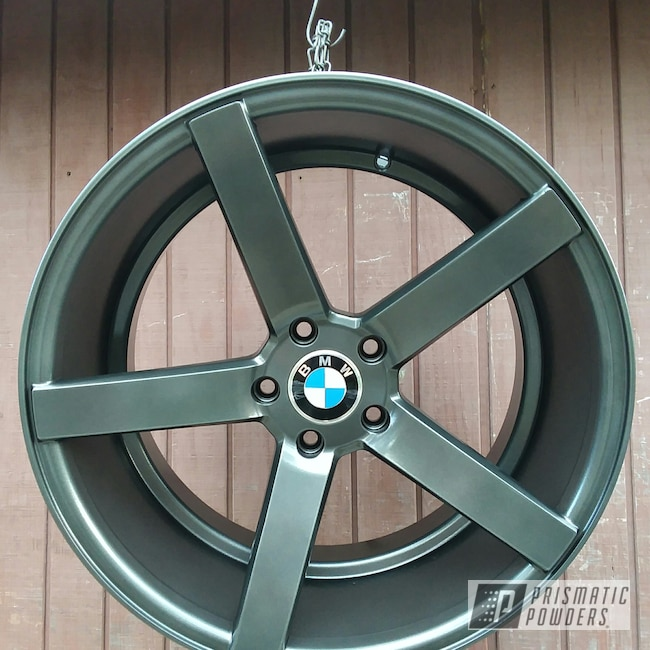 Powder Coating: Wheels,Automotive,Evo Grey PMB-5969,BMW