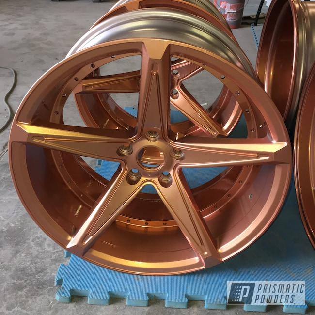 Powder Coating: Wheels,Automotive,Clear Vision PPS-2974,Illusion Rose Gold PMB-10047
