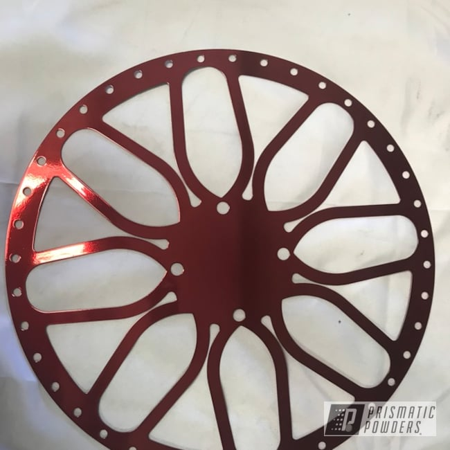 Powder Coating: Wheels,Automotive,Super Chrome USS-4482,Custom Powder Coated Wheels,Lollypop Red UPS-1506