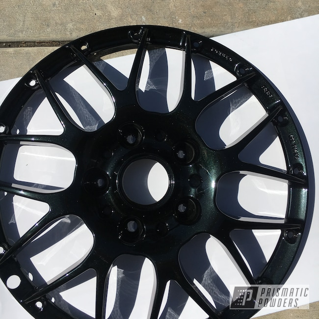 Powder Coating: Wheels,Automotive,Onecoat,Sable Black Jade PMB-1620,2 Piece Wheels