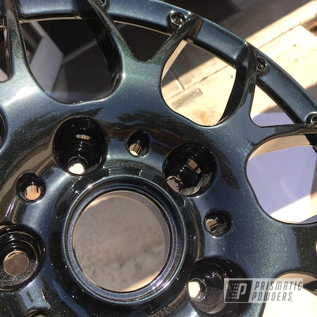 Powder Coating: Wheels,Automotive,Onecoat,Sable Black Jade PMB-1620,2 Piece Wheels
