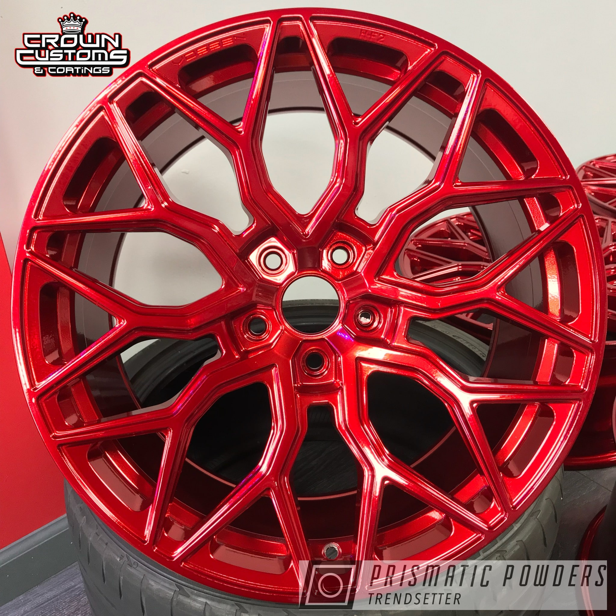 Powder Coating: Wheels,Vossen Wheels,Automotive,Vossen,Super Chrome USS-4482,Lollypop Red UPS-1506