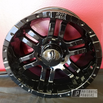 Ink Black Powder Coated Wheels
