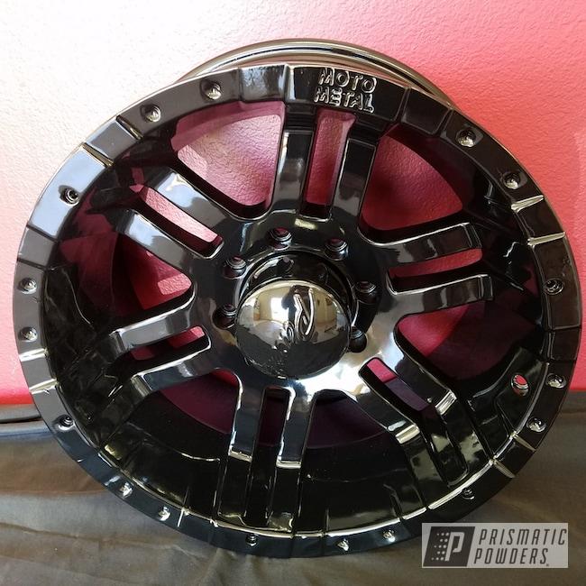 Powder Coating: Wheels,Automotive,Custom Wheels,Ink Black PSS-0106,Moto Metal,Powder Coated Wheels