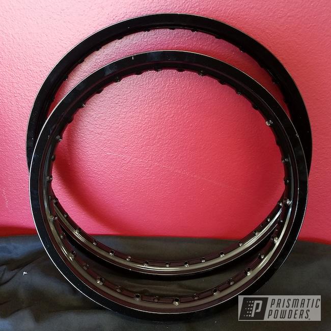 Powder Coating: Rims,Ink Black PSS-0106,Powder Coated Motorcycle Rims,Motorcycles,dirt bike,Spoked Rims
