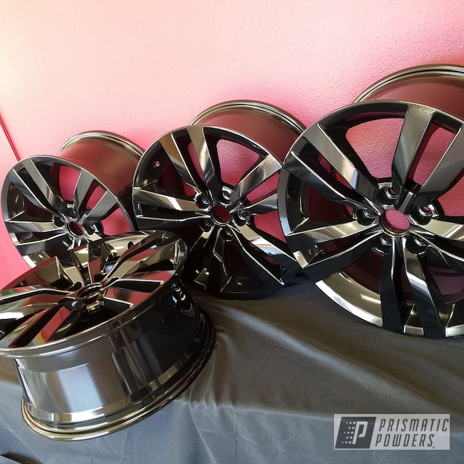 Powder Coating: Wheels,Automotive,Custom Wheels,Ink Black PSS-0106,Powder Coated Wheels