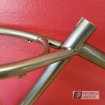 Bicycle Frame In A Kingsport Grey Powder Coat