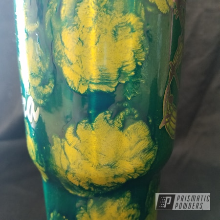 Powder Coating: Cheater Blue PPB-6815,Tumbler,Custom Cup,Psycho Lemon PPB-2366