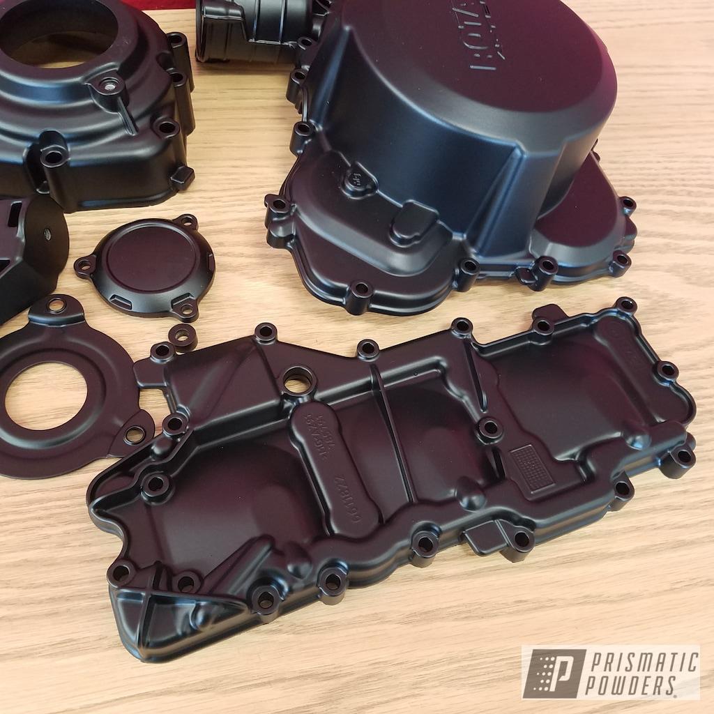 Motorcycle Engine Parts in a Black Jack Powder Coat   Gallery