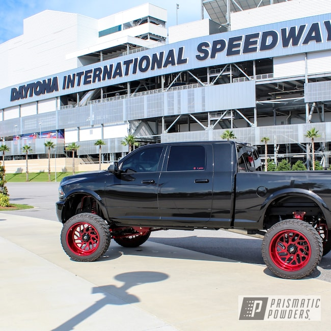 Powder Coating: Wheels,Automotive,Clear Vision PPS-2974,Monster Truck,Illusion Cherry PMB-6905,Fuel Forged,BDS Suspension