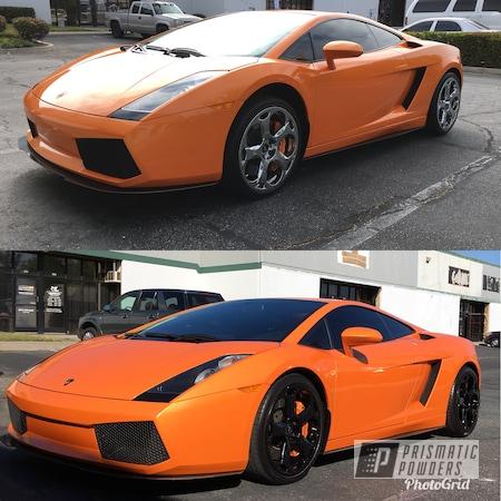 Powder Coating: Wheels,Lambo Wheels,Automotive,Ink Black PSS-0106,Lamborghini Wheels,Powder Coated Wheels,Lamborghini