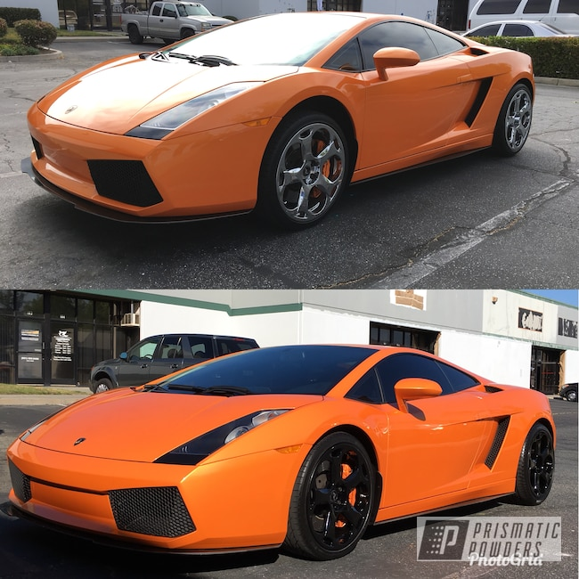Powder Coating: Wheels,Lambo Wheels,Automotive,Ink Black PSS-0106,Lamborghini Wheels,Powder Coated Wheels,Lamborghini
