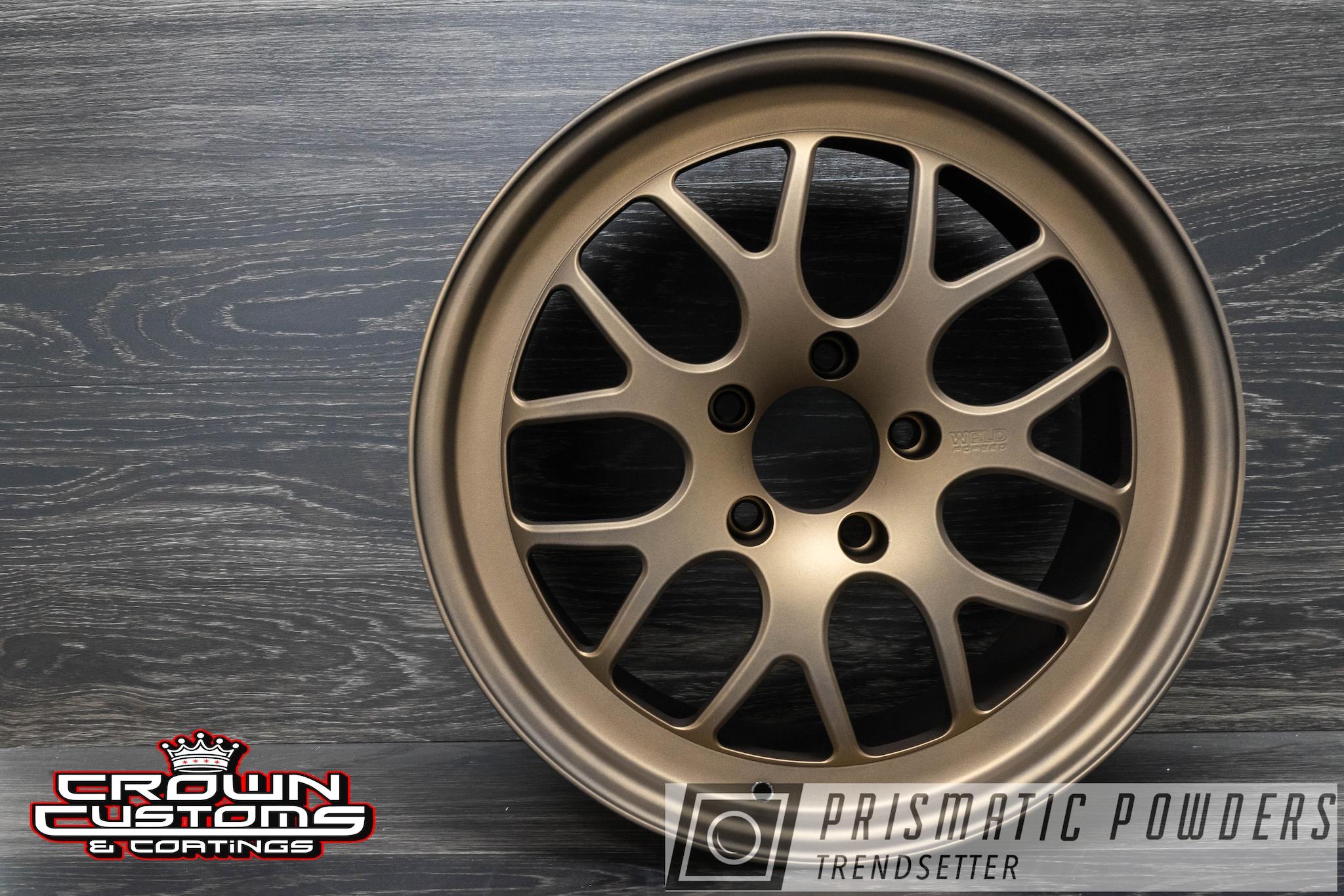 Powder Coating: Wheels,Automotive,Bronze Chrome PMB-4124,Casper Clear PPS-4005,WELD Wheels