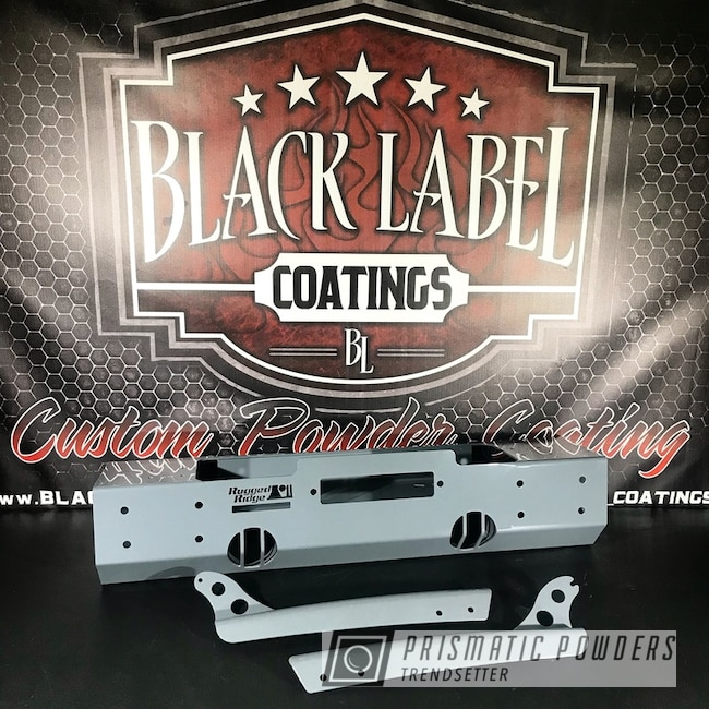 Rugged Ridge Bumper Coated In Ral 7011 A Classic Iron Grey Color