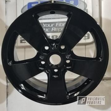 Custom Powder Coated Ink Black Wheel With An Epoxy Primer Base Coat