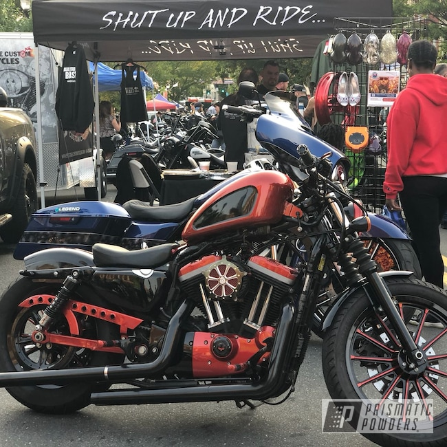 Powder Coating: Wheels,Custom,Shine,Multicolor,Clear Vision PPS-2974,Illusion Wild Copper PMB-5364,Sportster,Various Parts,Ink Black PSS-0106,Tank,Motorcycles