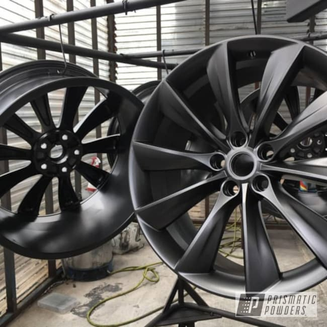 Powder Coating: Wheels,Automotive,Powder Coat,Evo Grey PMB-5969,Tesla Wheels,Tesla Wheel