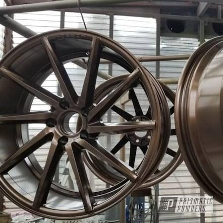 Powder Coating: Wheels,Vossen Wheels,Automotive,Vossen,powder coating,US BURNT BRONZE UMB-0492,Powder Coated Vossen Wheels,Burnt Bronze