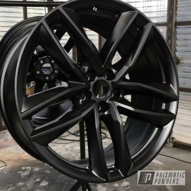 Powder Coating: Wheels,Automotive,GLOSS BLACK USS-2603,Powder Coated Wheels,Gloss Black