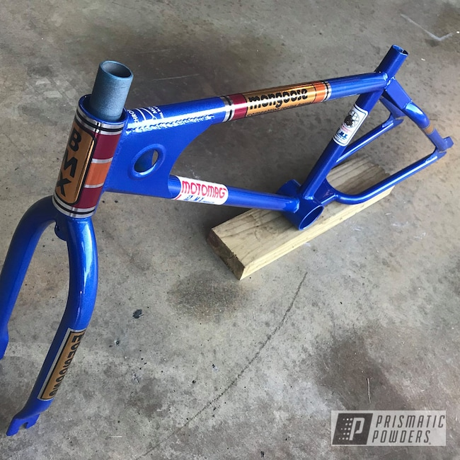 Powder Coating: Bicycles,Clear Vision PPS-2974,Bike Frame,Coated Bicycle Frame,Illusion Blueberry PMB-6908,Bicycle,Bicycle Frame