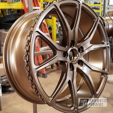 Powder Coated Wheels In Highland Bronze