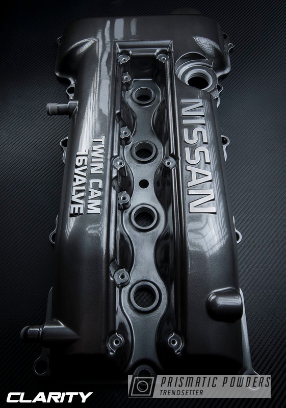 Nissan Twin Cam Valve Cover Powder Coated In Super Chrome And Black Chrome Ii
