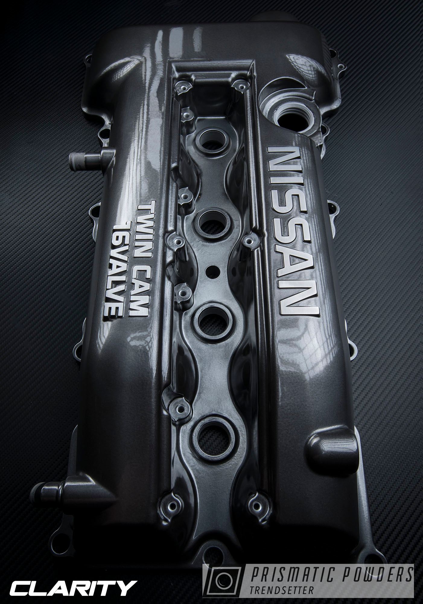 Powder Coating: Black Chrome II PPB-4623,Automotive,Nissan,Super Chrome USS-4482,blackchrome,Valve Cover