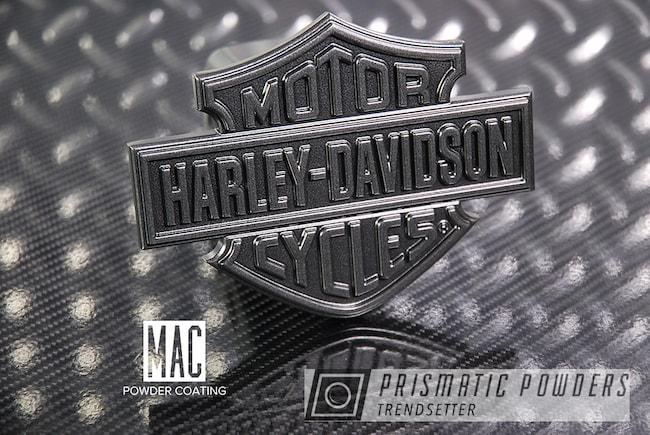 "Powder Coating: Wheels,Automotive,Harley Davidson,Evo Grey PMB-5969,Powder Coated 20"" Wheels,BMW Emblem Blue,Trailer Hitch Cover"