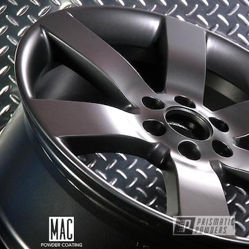 Trailer Hitch And Custom Wheels Powder Coated In Evo Grey