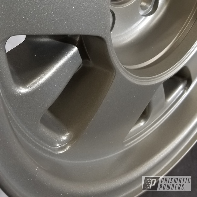 Powder Coating: Automotive,Rims,SATIN TITANIUM UMB-1860