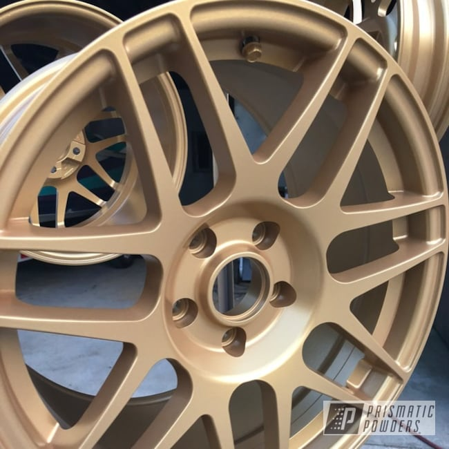 Powder Coating: Wheels,Goldtastic PMB-6625,Automotive,Rims