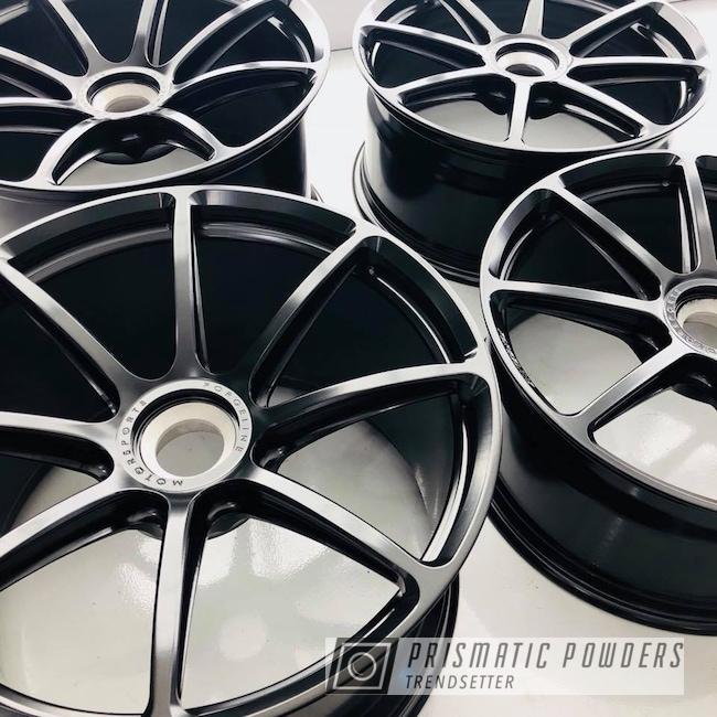 Powder Coating: Matt Black PSS-4455,Wheels,Automotive,GT3RS,Forgeline,Black,Satin,Porsche,GT