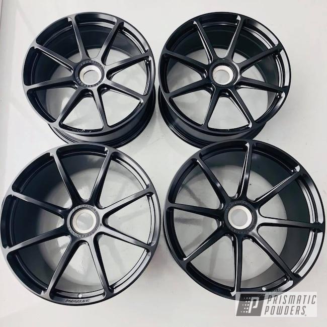 Powder Coating: Wheels,Matte Black PSS-4455,Automotive,GT3RS,Forgeline,Black,Satin,Porsche,GT