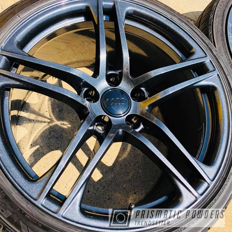 Powder Coating: Wheels,Custom,Automotive,Audi,silver,Gunmetal,R8,Cadillac Grey PMB-6377,grey