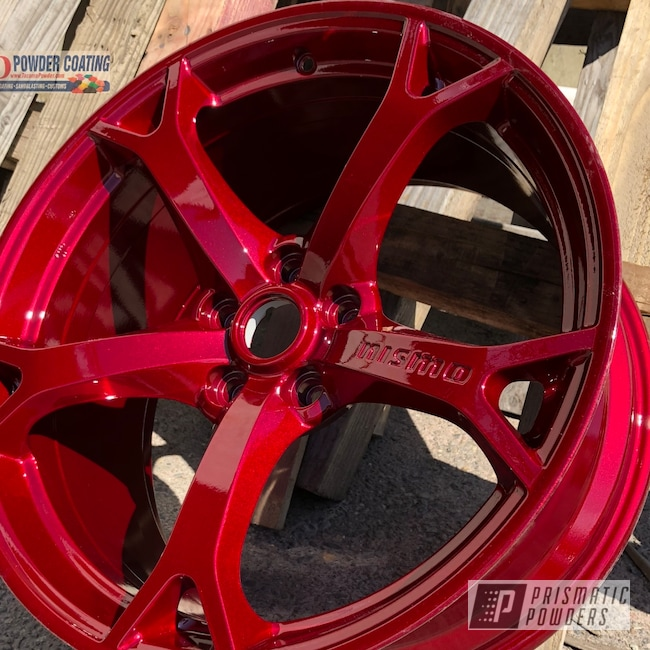 Powder Coating: Wheels,Zcar,Automotive,Clear Vision PPS-2974,Nissan,Rims,350,370,Illusion Cherry PMB-6905,Rays,Nismo Wheels
