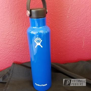 Powder Coated Hydro Flask Bottle In Brazilian Blue