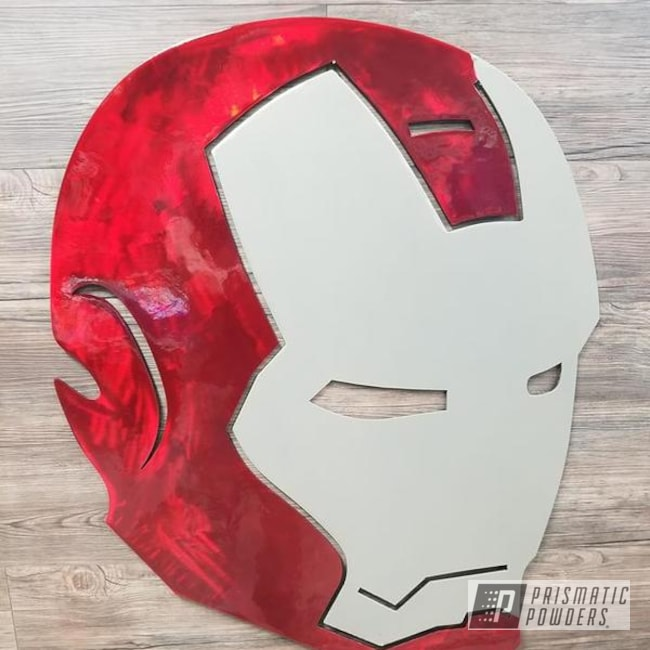 Powder Coating: Metal Art,Golden Champagne PTB-5604,LOLLYPOP RED UPS-1506,Comic Book Theme,Art,Iron Man