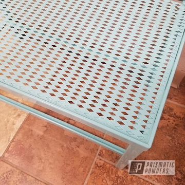 Patio Furniture Powder Coated In Sea Foam Green