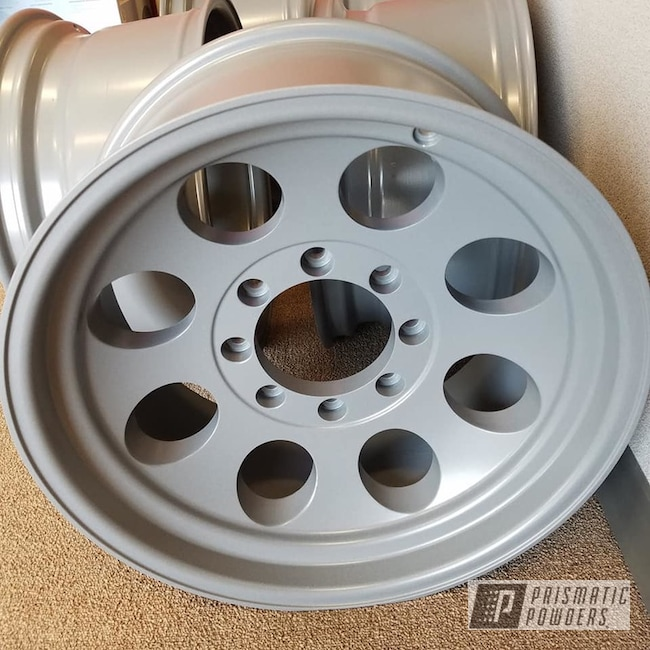 Powder Coated Wheels In Graphite Stone