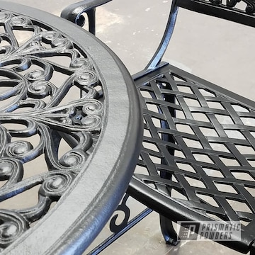 Powder Coated Patio Furniture In Black Jack
