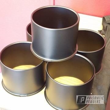 Black Powder Coated Wheel Center Caps