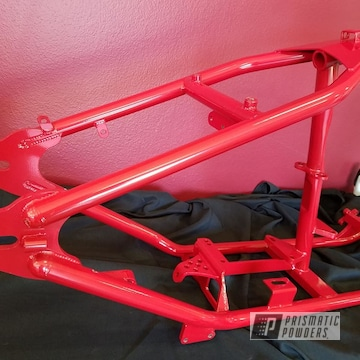 Red Powder Coated Harley Davidson Frame