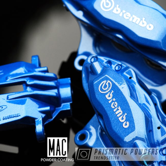 Powder Coating: Automotive,Calipers,Clear Vision PPS-2974,Brembo Calipers,Brembo,Brembo Brakes,Brembo Brake Calipers,brakecalipers,Illusion Smurf PMB-6909,Custom Brake Calipers