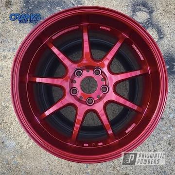 Powder Coated Subaru Sti Wheels